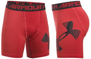 Under Armour Youth HeatGear Mid Compression Shorts