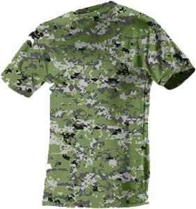 Adult (AS, AXL) & Youth Digi Camo Tech Cooling CrewTee Shirt - Closeout. Printing is available for this item.