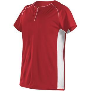 05807ad49 Alleson Women Girls Two Button Fastpitch Jersey - Baseball Equipment   Gear
