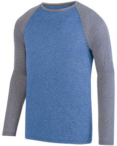 Augusta Sportswear Adult Kinergy LS Raglan Tee. Decorated in seven days or less.