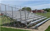 NRS 10 Row Galvanized Bleachers (Without Aisles)