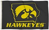 Collegiate Iowa 3'x5' Flag w/State Outline