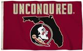 Collegiate Florida St. 3'x5' Flag w/State Outline