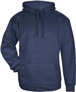 Badger Adult Youth Line Embossed Hoodie. Decorated in seven days or less.
