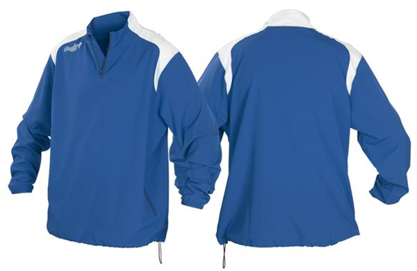 Youth XL Graphite//White 1//4 Zip Baseball//Softball Jacket
