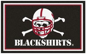 Fan Mats NCAA Nebraska Blackshirts 4'x6' Rug