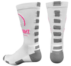 Pearsox Fight Pink Ribbon Crew Socks
