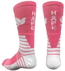 Pearsox Hope Pink Ribbon Crew Socks