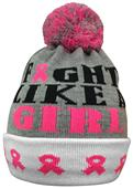 Pearsox Fight Like A Girl Pink Ribbon Beanie Hat