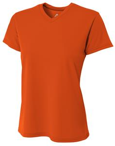 A4 Womens Cooling V-Neck Tee Shirt - Closeout