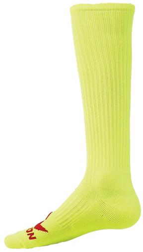 Red Lion Florescent Patriot Athletic Sock Neon Orange - Large