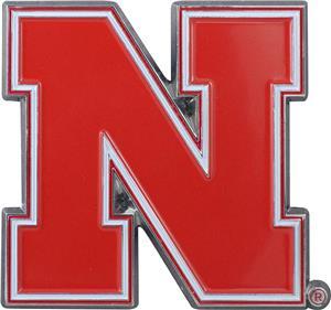 Fan Mats NCAA Nebraska Colored Vehicle Emblem