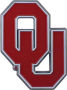 Fan Mats NCAA Oklahoma Colored Vehicle Emblem