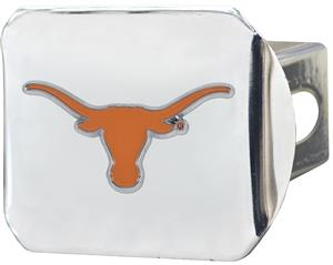 Fan Mats NCAA Texas Chrome/Color Hitch Cover