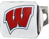 Fan Mats NCAA Wisconsin Chrome/Color Hitch Cover