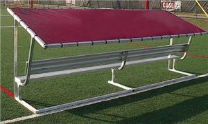 Pevo Sports Covered Aluminum Canopy Bench