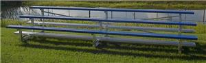 Pevo Sports 3-Row Aluminum Bleachers. Free shipping.  Some exclusions apply.