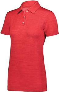 Holloway Ladies Striated Polo 222756. Embroidery is available on this item.