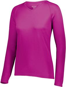 Augusta Ladies Attain Wicking Long Sleeve Shirt. Printing is available for this item.