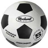 Markwort Black & White Rubber Soccer Balls