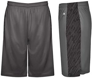Badger Sport Adult Line Embossed Panel Shorts