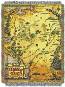 """Northwest The Hobbit """"Middle Earth Map"""" Throw"""