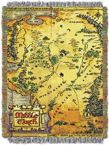 Northwest The Hobbit Middle Earth Map Throw Soccer Equipment And