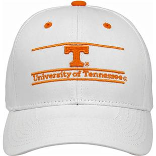 White, Tennessee Volunteers Adult Game Bar Adjustable Hat