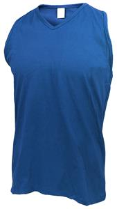 Russell Womens Sleeveless V-Neck Jersey CO. Printing is available for this item.