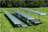 NRS 3 Row Non Elevated Galvanized Bleachers NB-03