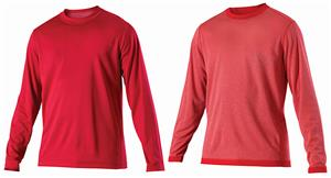 Alleson Youth Long Sleeve Reversible Cooling Shirt - C/O