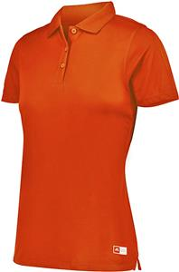 Russell Ladies S/Sleeve Wicking Essential Polo C/O. Embroidery is available on this item.