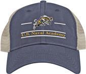 The Game Navy Snapback Split Bar Cap (dz)