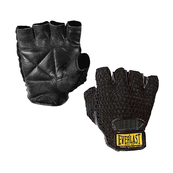 Details about  /Everlast Leather Fitness Gloves
