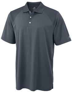 Russell Mens Dri-Power Wicking Golf Polos C/O. Embroidery is available on this item.