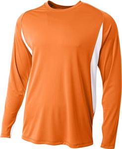 A4 Adult Cooling Performance LS Color Block Tee