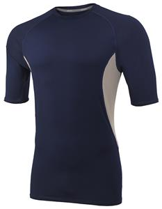 Mens Cooling Half Sleeve Vented Compression Shirt - CO