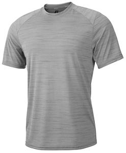 Russell Mens 4.3oz Wicking Striated Heather T  CO