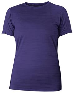 4.3oz Wicking Womens Striated Heather T Shirt. Printing is available for this item.
