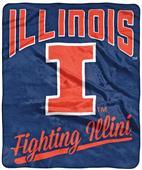 Northwest NCAA Illinois Alumni Raschel Throw