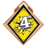 """Hasty Award G-Force 3"""" Medal Bust Out 4th Place"""