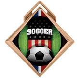 "Hasty Award G-Force 3"" Medal Patriot Soccer"