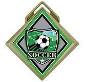 "Hasty 3"" G-Force Medal Shield Soccer Insert"