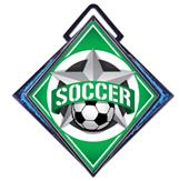 "Hasty Excel 3"" Blue Medal All-Star Soccer Mylar"