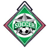 "Hasty Excel 3"" Maroon Medal All-Star Soccer Mylar"