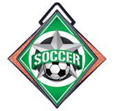 "Hasty Excel 3"" Orange Medal All-Star Soccer Mylar"