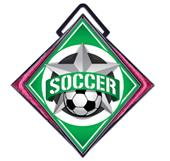 "Hasty Excel 3"" Pink Medal All-Star Soccer Mylar"