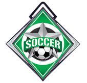 """Hasty Excel 3"""" White Medal All-Star Soccer Mylar"""