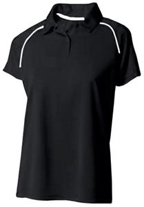 A4 Womens Moisture Management Polo Shirts CO. Embroidery is available on this item.