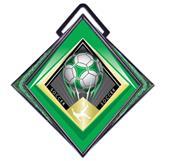 "Hasty Excel 3"" Green Medal G-Force Soccer Mylar"